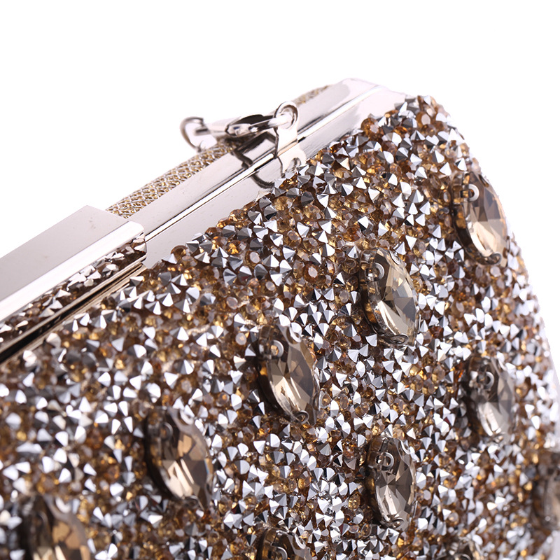 New diamond-encrusted evening bag women's evening dress party dress clutch NHYG176839