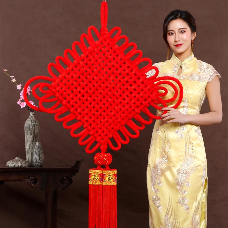 中国结福字对联挂件春节年货厂家直销批发大号定制小挂件广告LOGO