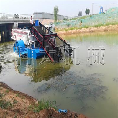 河道捞草保洁清理垃圾船 漂浮物水花生清理打捞船