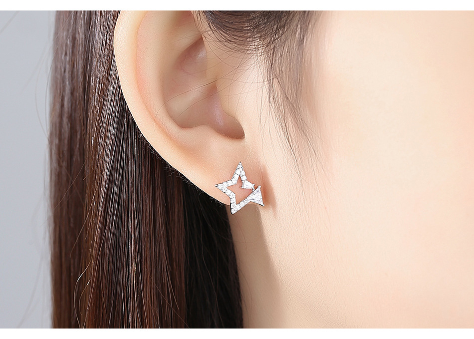 Alloy Korea Geometric earring  Platinum01C22 NHTM0427Platinum01C22