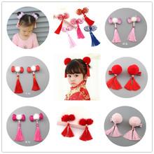 中国风 复古 唐装流苏款儿童发夹发卡 女童新年旗袍发饰头饰