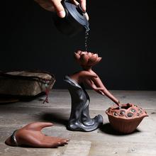 紫砂佛手茶漏托陶瓷功夫茶具茶过滤中式家居装饰工艺品摆件批发