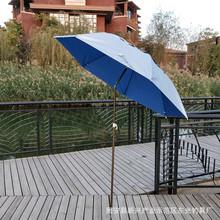 批发钓鱼太阳伞雨伞防晒1.8米铁杆单向硬包户外垂钓用品