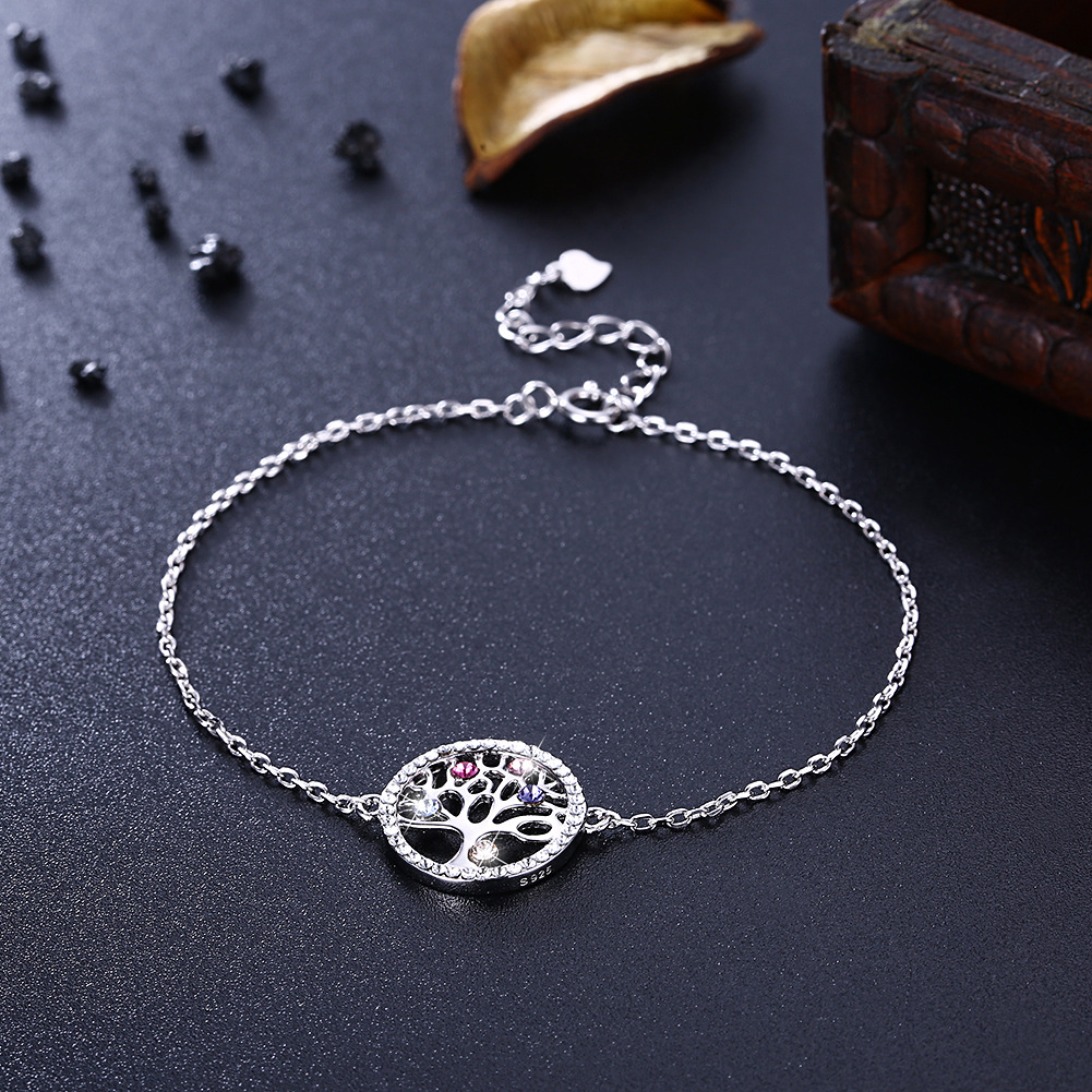 9289878232_1106458998 925 Sterling Silver Crystal Life Tree Bracelets for Women