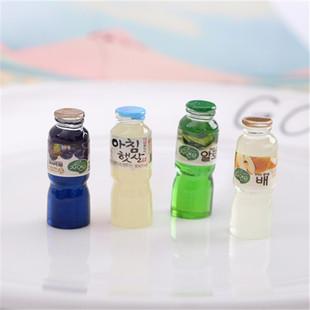 Imitation food and play ornaments, resin beverage juice bottle, Korean hot drink bottle, earrings, key chain pendant