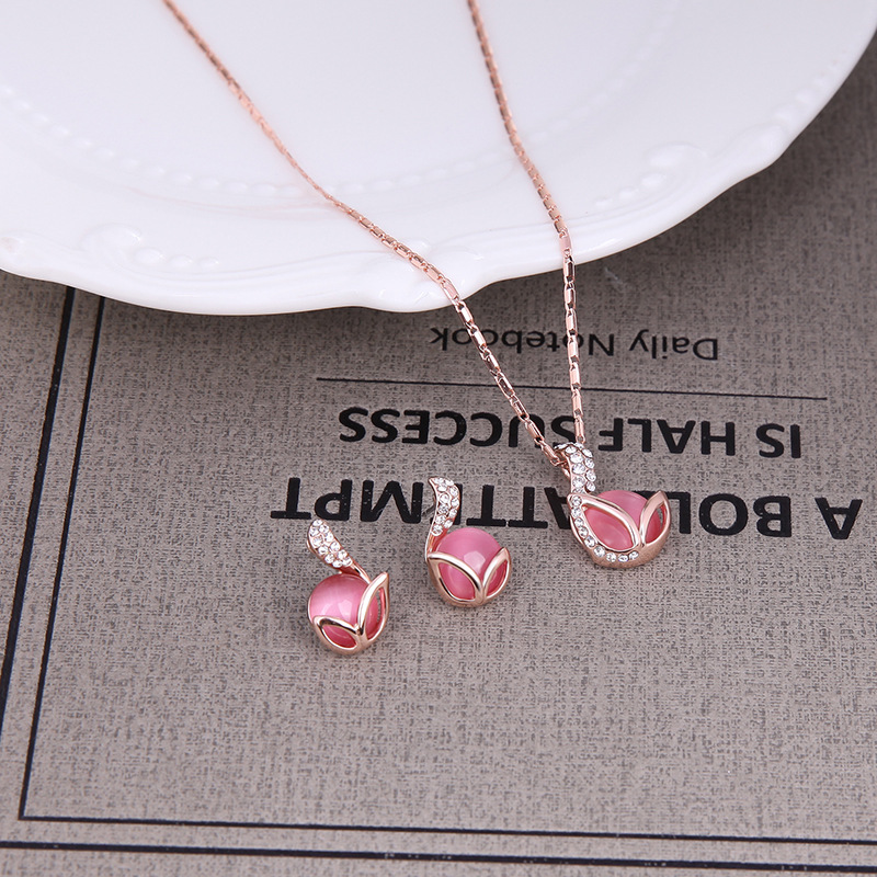 Alloy Fashion  Jewelry Set  61152284 rose alloy NHLP109461152284rosealloy