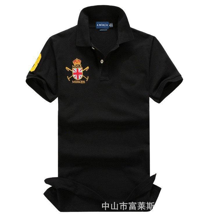 男式拉夫保罗POLO衫男士皇冠短袖纯色外贸品牌翻领一件代发
