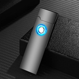 USB rechargeable lighter fingerprint touch sensing arc dual electronic cigarette engraving man sends boyfriend