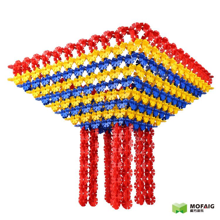贝旺正品 雪花片积木加厚大中小号 儿童益智塑料拼插玩具积木包邮