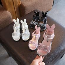 Mùa hè 2019 trẻ em dép cô gái đính kim cương đính đá túi roman với giày hở ngón cho bé Dép trẻ em