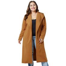2018跨境歐美新品超大碼女裝 胖mm冬裝呢子大衣 翻領長款毛呢外套