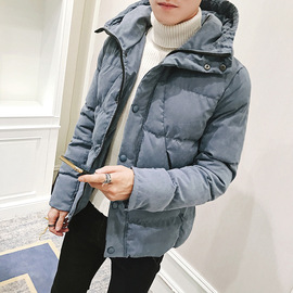 New men's jacket winter coat men plus fertilizer XL winter hooded youth padded cotton jacket jacket