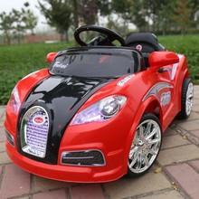 新款布加迪儿童电动汽车童车四轮带遥控双驱可坐电动车玩具车 h
