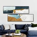 北欧风格客厅床头卧室装饰画横幅抽象创意房间沙发背景大幅墙壁画
