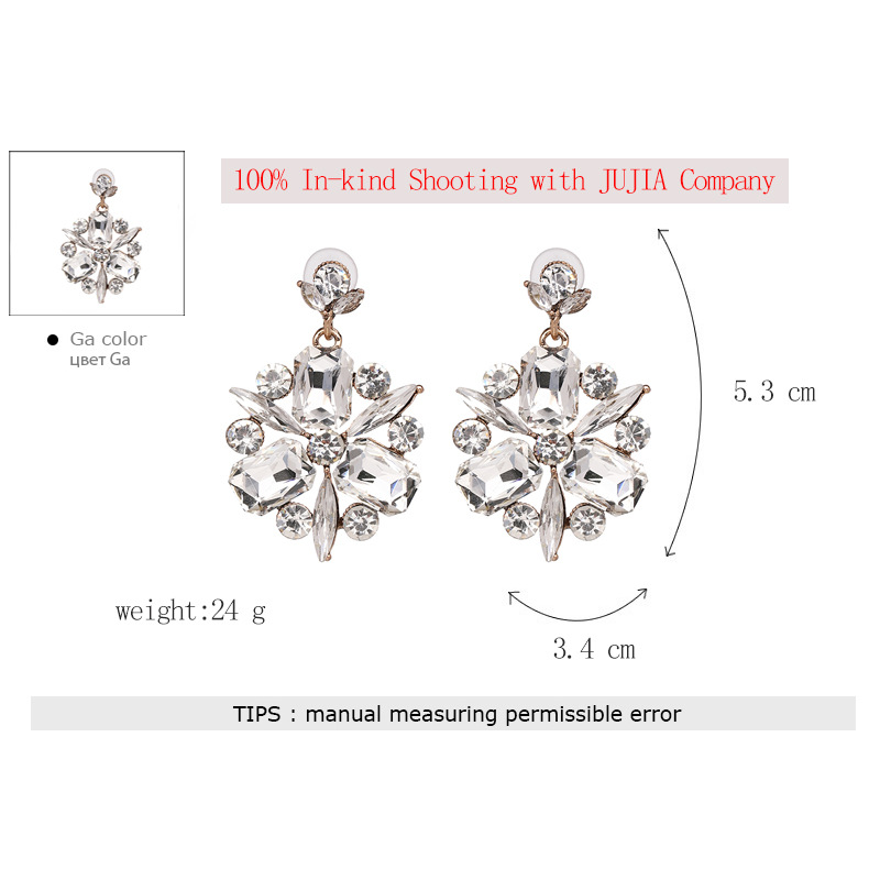 Imitated crystal&CZ Fashion Flowers earring  (white) NHJJ3961-white