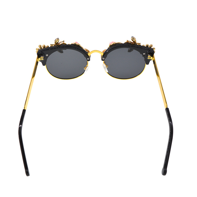 Alloy Vintage  glasses  (black) NHNT0673-black