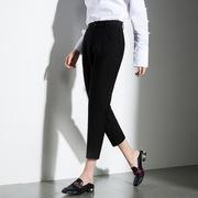 2018夏新款韩版修身小脚裤高腰萝卜裤八分裤女显瘦休闲裤女