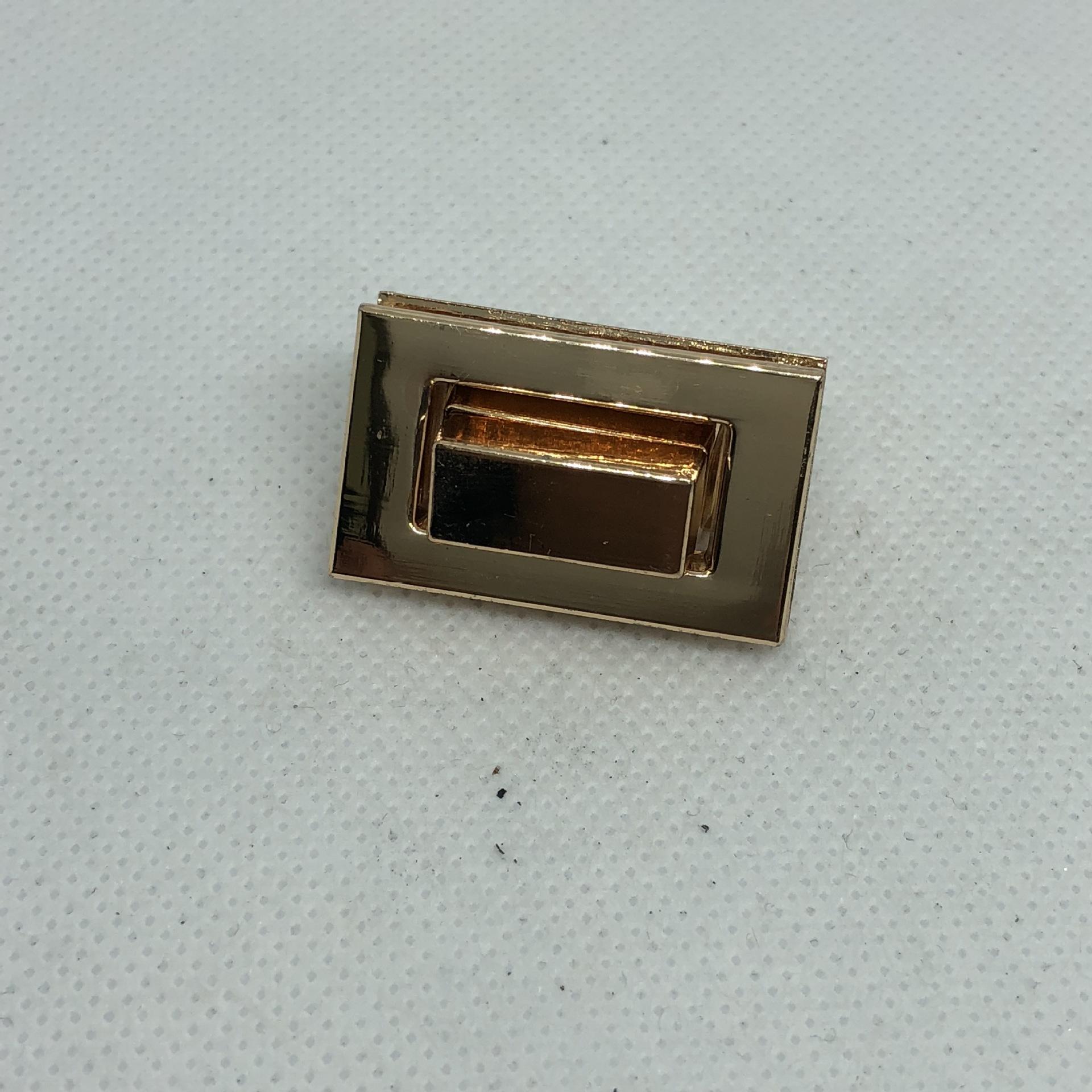 环保 手袋 皮具 箱包五金配件旋转锁扣 锌合金中小长方形金属拧锁