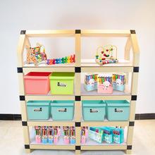 棒棒搭幼儿园区角架玩具收纳架 厂家直销儿童纸绘本架书柜组合柜
