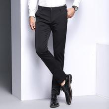2019春季新款弹力男裤男式商务小西裤时尚中年韩版休闲裤修身长裤