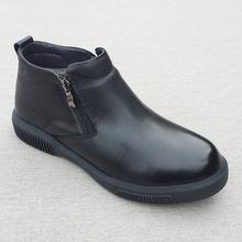 羊毛男棉鞋秋冬真皮男士保暖羊皮毛一体毛鞋休闲拉链皮靴中老年鞋