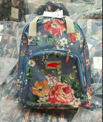 Cath kidston new túi đi học không thấm nước Người Anh túi hoa ba lô túi máy tính cao đẳng gió in ấn