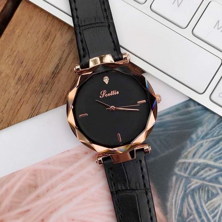 诗高迪新款韩国时尚女学生韩版简约休闲女表石英表潮流皮带手表
