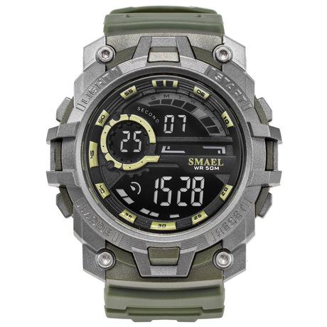 Mùi SMAEL đồng hồ thể thao ngoài trời không thấm nước kỹ thuật số duy nhất hiển thị bảng quân sự dạ quang đa năng đồng hồ nam điện tử