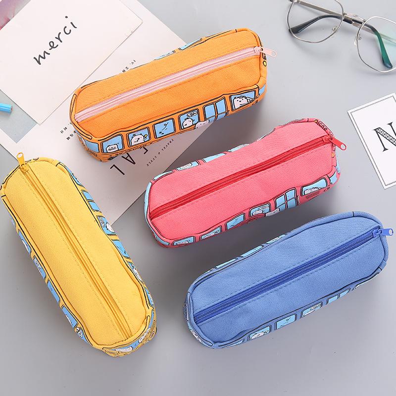 Stereo học sinh trung học văn phòng đàn ông xe buýt xe buýt BUS xe buýt bút chì hộp bút chì trường hợp văn phòng phẩm vải và phụ nữ