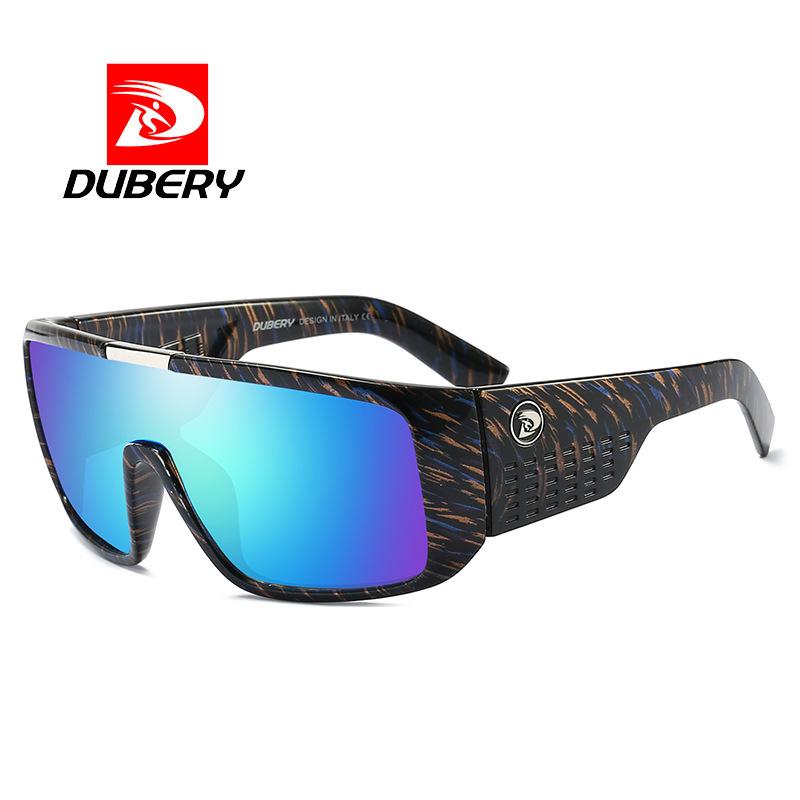 DUBERY 外贸连体镜太阳镜D2030 宽腿骑行运动防紫外线护目眼镜