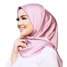 90*90cm纯色大方巾职业装搭配糖果色丝巾外贸热销款素色丝巾hijab