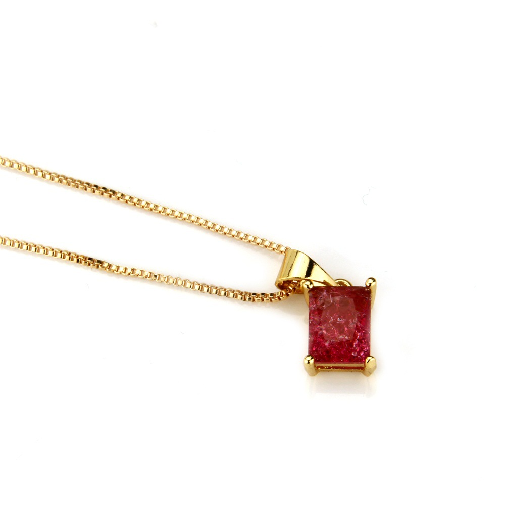 Copper Simple  necklace  (Alloy-plated white zircon) NHBP0145-Alloy-plated-white-zircon