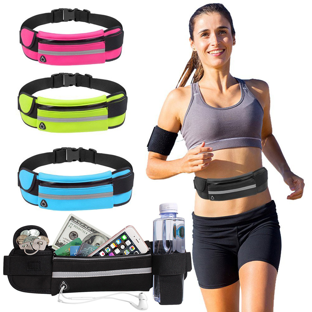 水壶腰包户外运动健身跑步腰包 防汗水防盗手机腰包贴身运动包