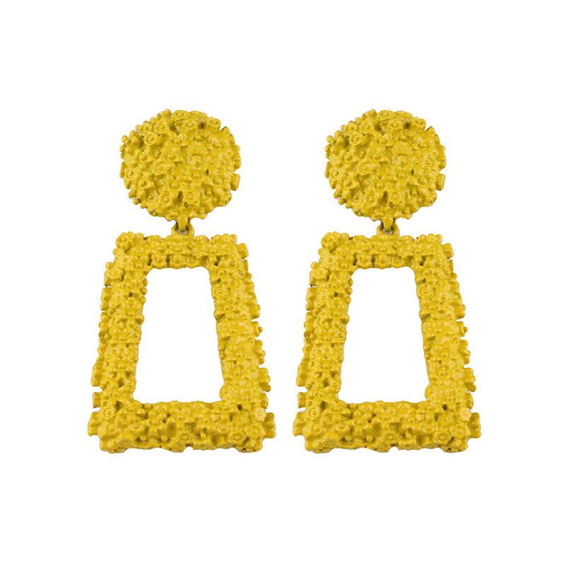 跨境欧美时尚几何金属创意大耳坠 个性创意耳环CE418