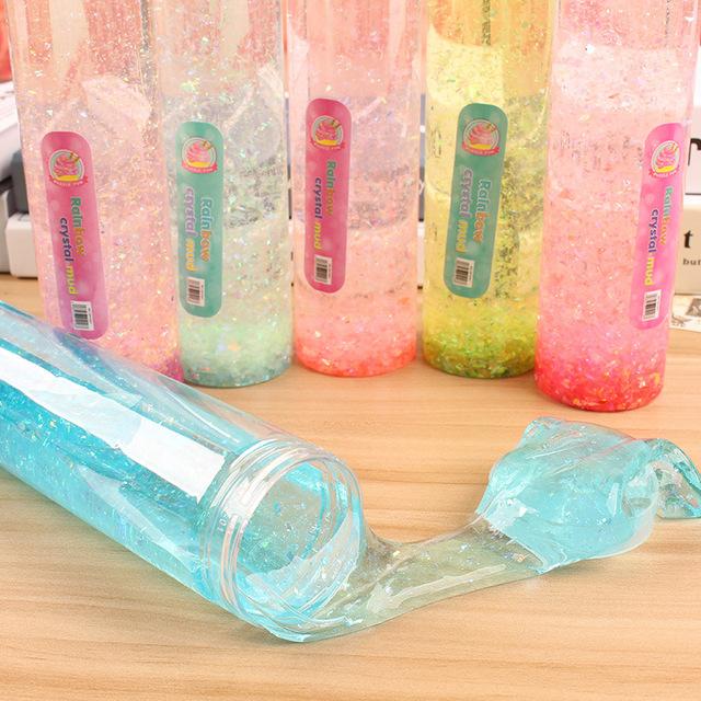 七彩水晶瓶金粉水晶泥 火山泥史莱姆泥粘土彩泥创意玩具厂家批发