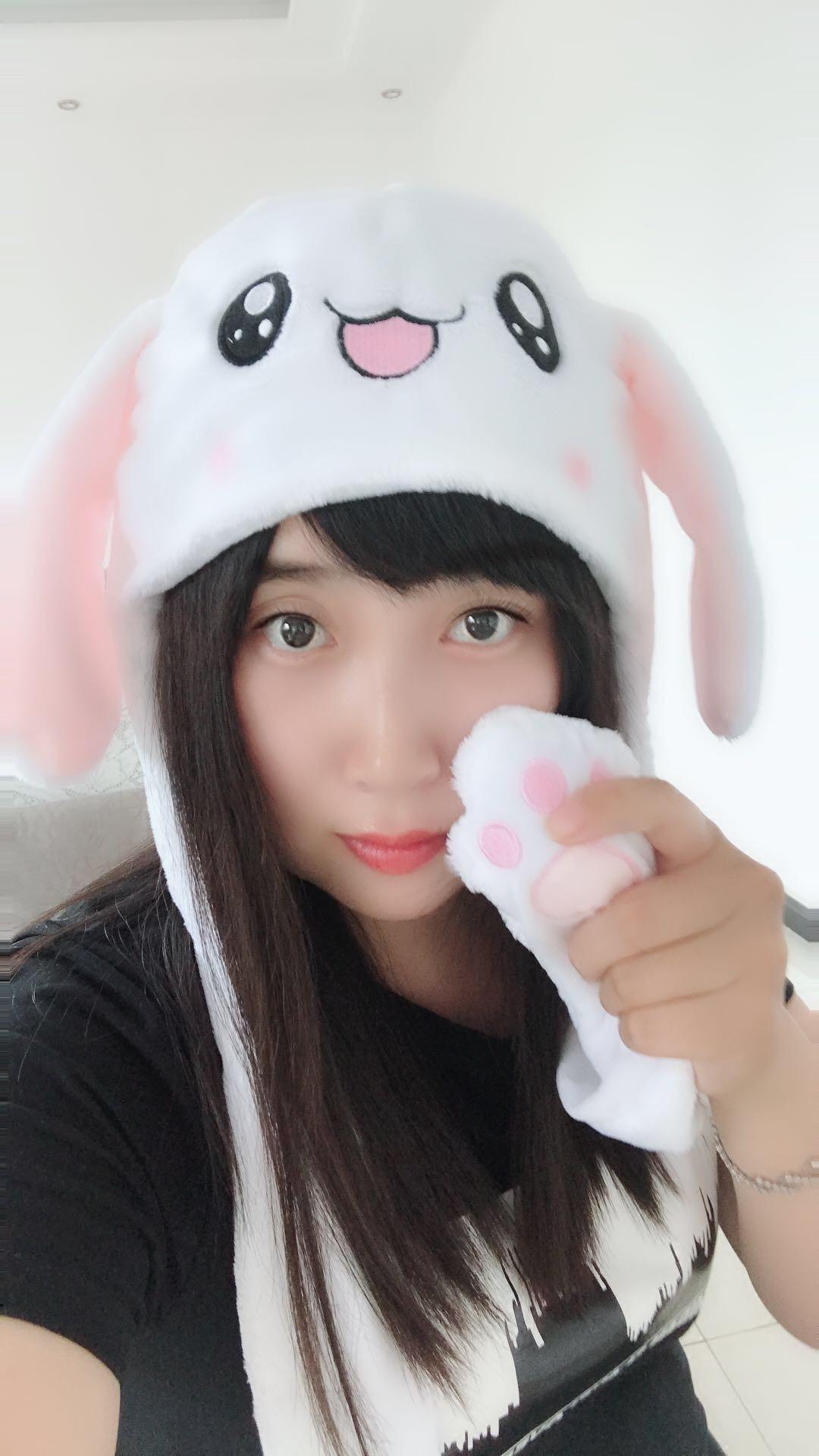 现货 抖音玩具一捏耳朵会动的兔子帽子网红同款会跳舞的帽子道具