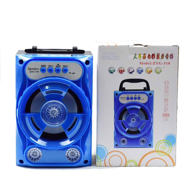 Outdoor Bluetooth Speakers Square Dance Portable Portable Card Gift Speakers blue 3w one size 6