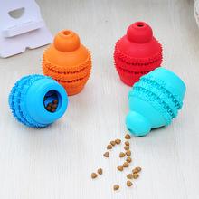 跨境宠物用品 新款玩具狗狗橡胶耐咬磨牙清洁口腔狗狗葫芦漏食球
