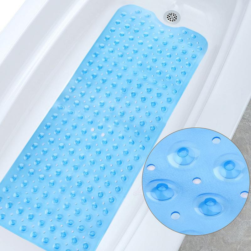 100*40cm加长款PVC浴室防滑垫 浴室浴缸垫带吸盘地垫 亚马逊