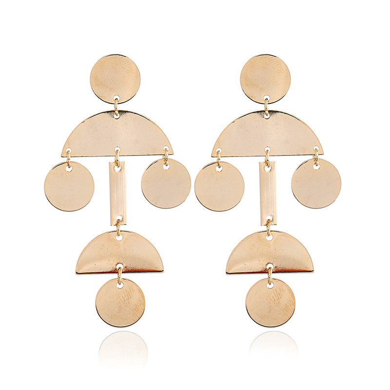 Alloy Fashion Geometric earring  (White K pink) NHKQ1694-White-K-pink
