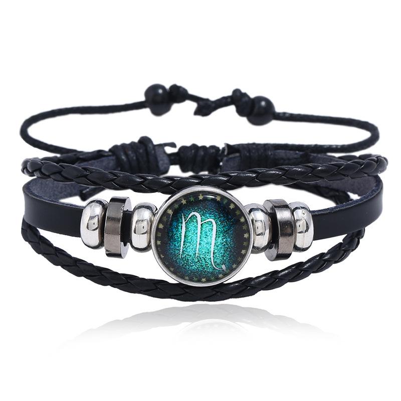 Leather Fashion Geometric bracelet  (Aries) NHPK2027-Aries