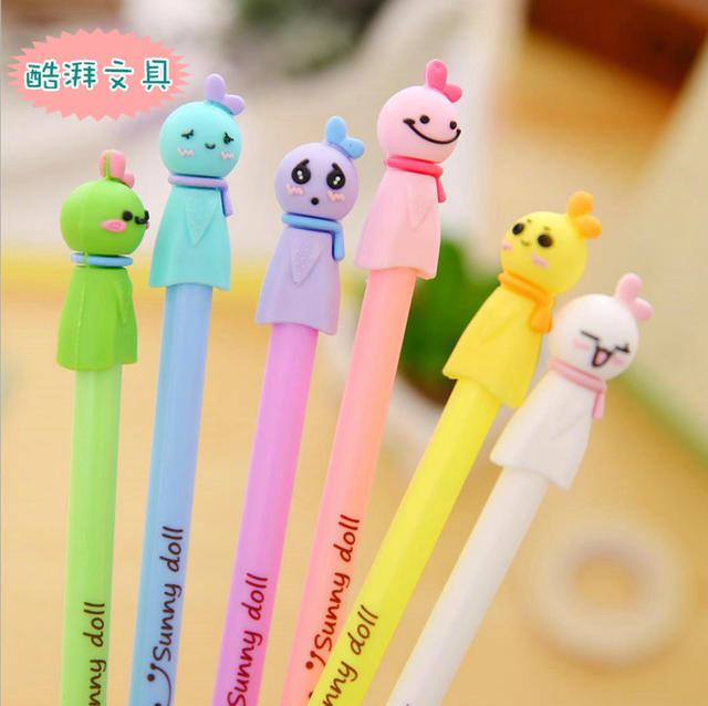 可爱晴天娃娃中性笔0.38mm清新学生卡通水笔创意日韩文具厂家直销