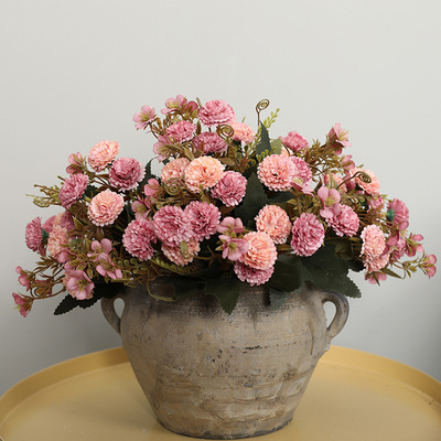 Home decoration small bouquet European-style artificial flower ornaments Simulation five fork 11 flowers Carnation