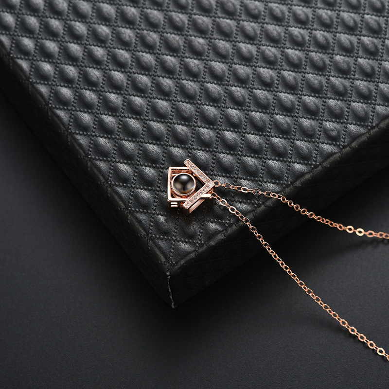 Copper Fashion Geometric necklace  (61181580A) NHLP1411-61181580A