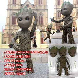 Boxed stock Hottoys LMS005 Groot Small tree man model HT1:1 movable boxed hand