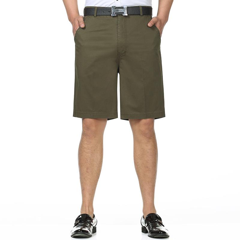 一件代发夏季男裤中年男士西装短裤中裤高腰新款宽松大码中老年五