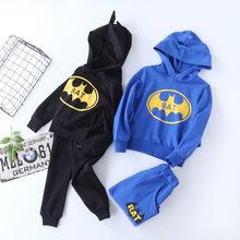 厂家直销  潮童爆款 蝙蝠侠造型卫衣套装 童套装
