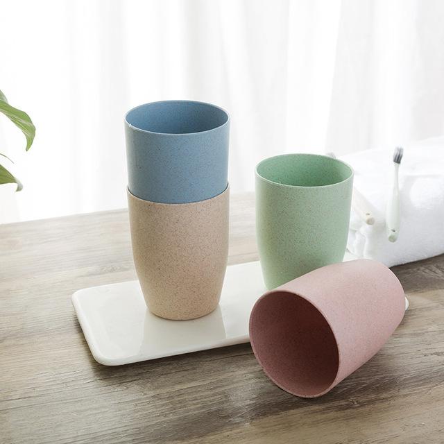 T环保小麦秸秆杯子 创意漱口杯牙刷简约刷牙水杯 洗漱杯批发