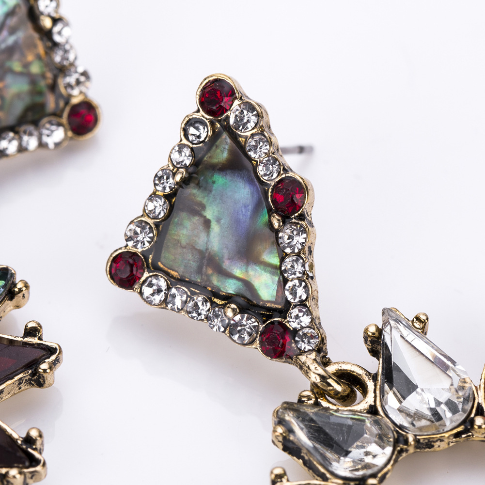 Alloy Fashion Geometric earring(red) NHJE1178-red