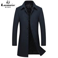 新品秋冬款毛呢大衣男韩版修身羊绒风衣男加厚羊毛呢大衣青年外套